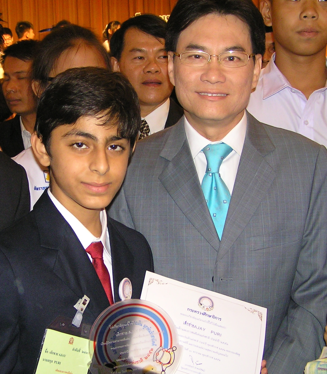 Ajay with Education Minister of Thailand