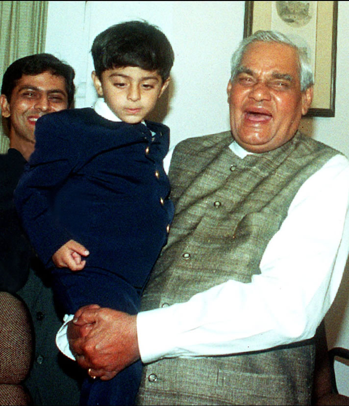 Ajay with Indian PM Shri Atal Bihari Vajpeeyi